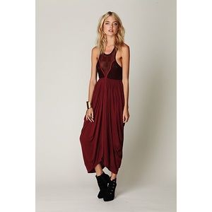 Free people embroidered bohemian maxi dress